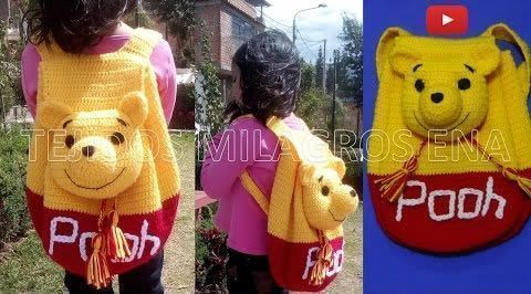 Tutorial Mochila de Winnie The Pooh tejido a crochet - Patrones gratis