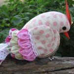 Patrón de pájaro monedero