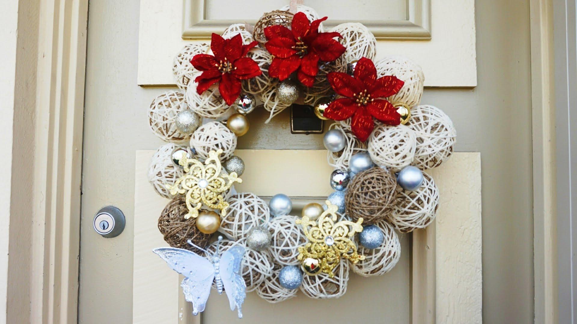 Diy como hacer una corona de navidad patrones gratis - Como hacer coronas navidenas ...