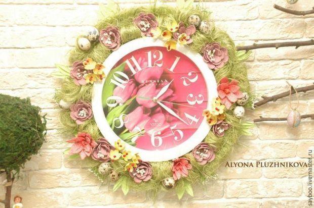 decorar-reloj-pared-carton-huevos