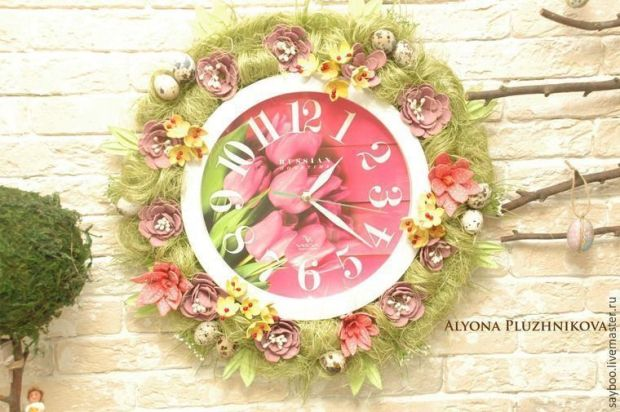 decorar-reloj-pared-carton-huevos