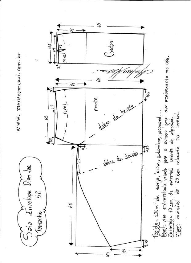 Patrón de Falda recta del diseñador Dion Lee - Patrones gratis