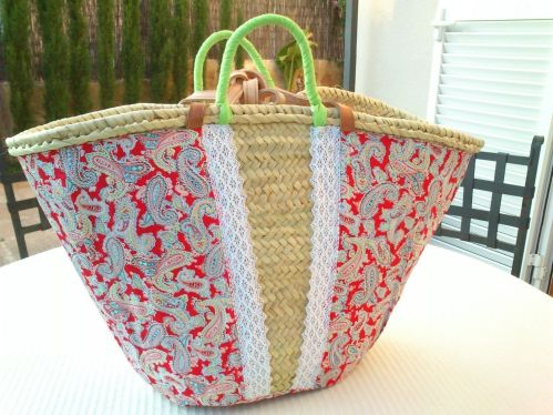 Diy de como decorar capazos patrones gratis - Adornar cestas de mimbre ...