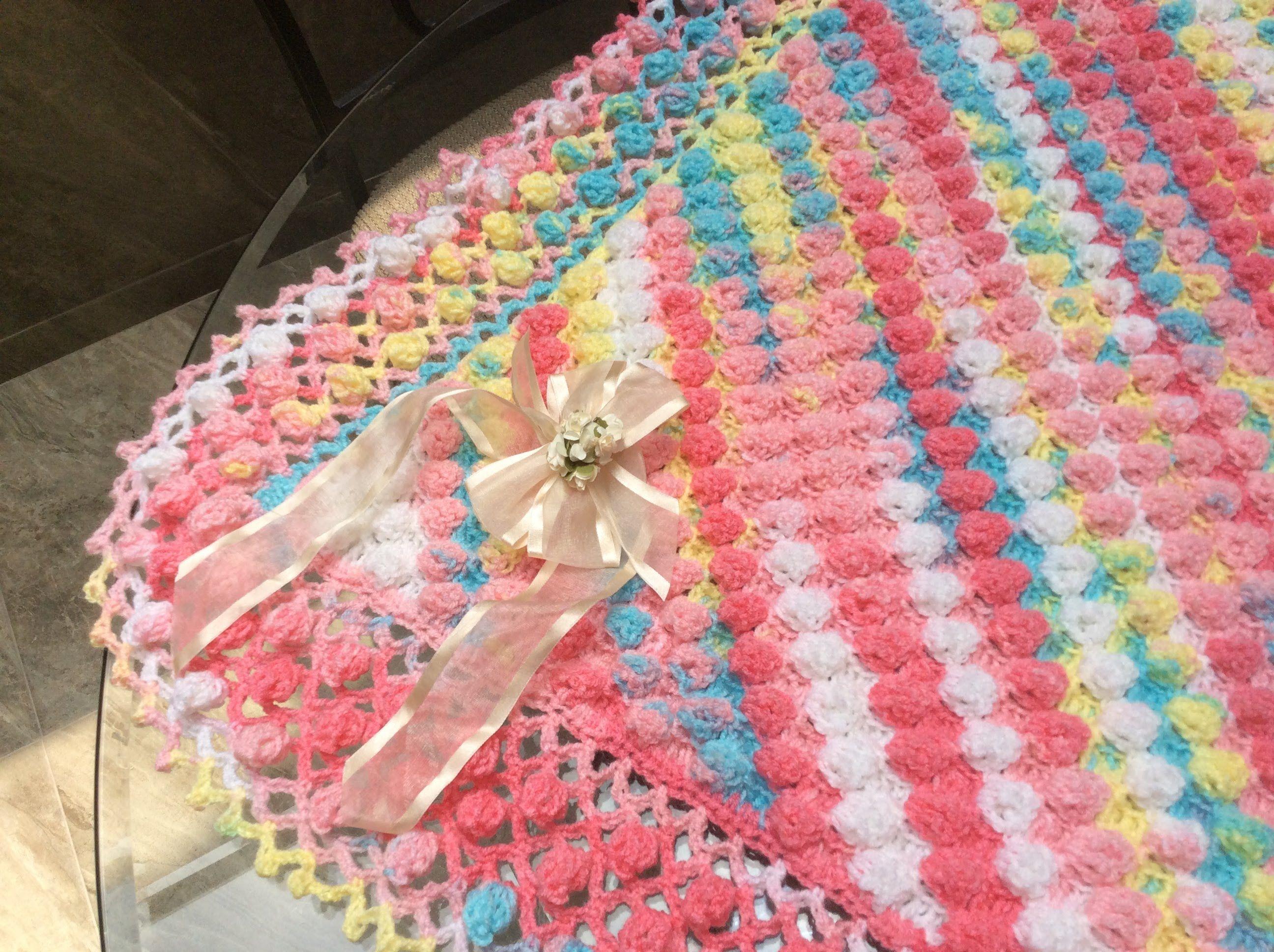Tutorial de manta a crochet patrones gratis - Manta de crochet facil ...