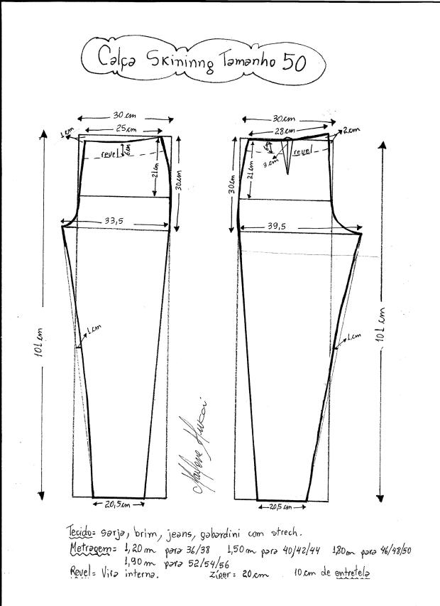 Patrón de pantalones ajustados - Patrones gratis