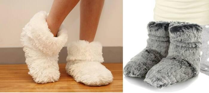 Moldes para pantuflas de botas - Patrones gratis