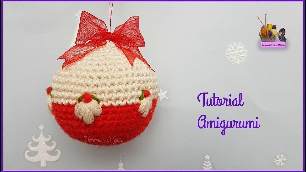 Como hacer bolas de navidad en amigurumi patrones gratis - Como hacer bolas para el arbol de navidad ...