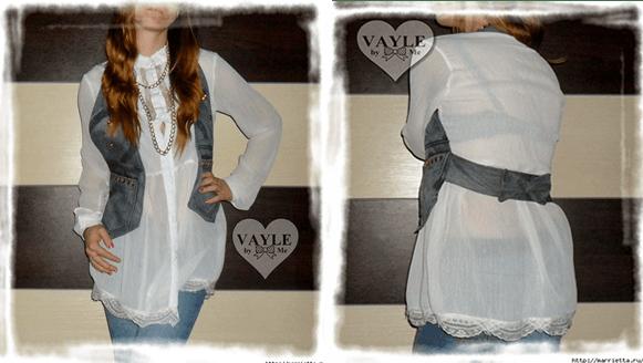 DIY como hacer un chaleco con unos Jeans - Patrones gratis 892350f0435d