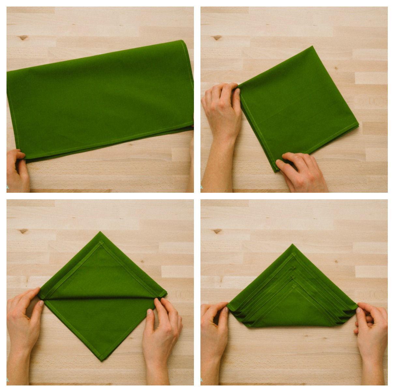 como doblar las servilletas en navidad patrones gratis