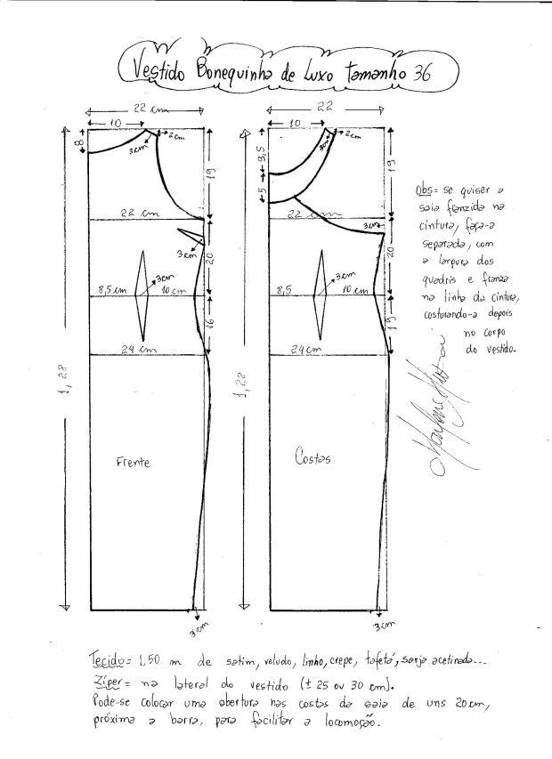 Patrón del vestido de lujo de Audrey Hepburn - Patrones gratis