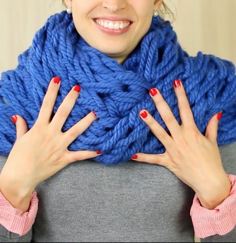 DIY Bufanda con los dedos - Patrones gratis
