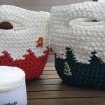 DIY Capazo en trapillo para Navidad