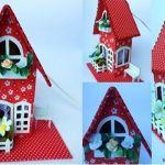 Casa de cartón decorativa con moldes