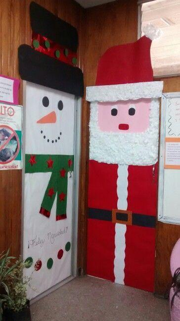 Ideas para decorar puertas en navidad patrones gratis for Decoracion puertas navidad