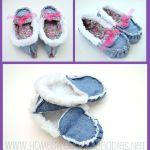 DIY Zapatillas vaqueras para casa