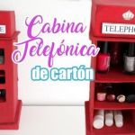 DIY Organizador cabina telefónica de cartón