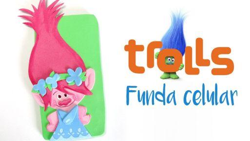 DIY para hacer una funda para móvil Poppy Trolls
