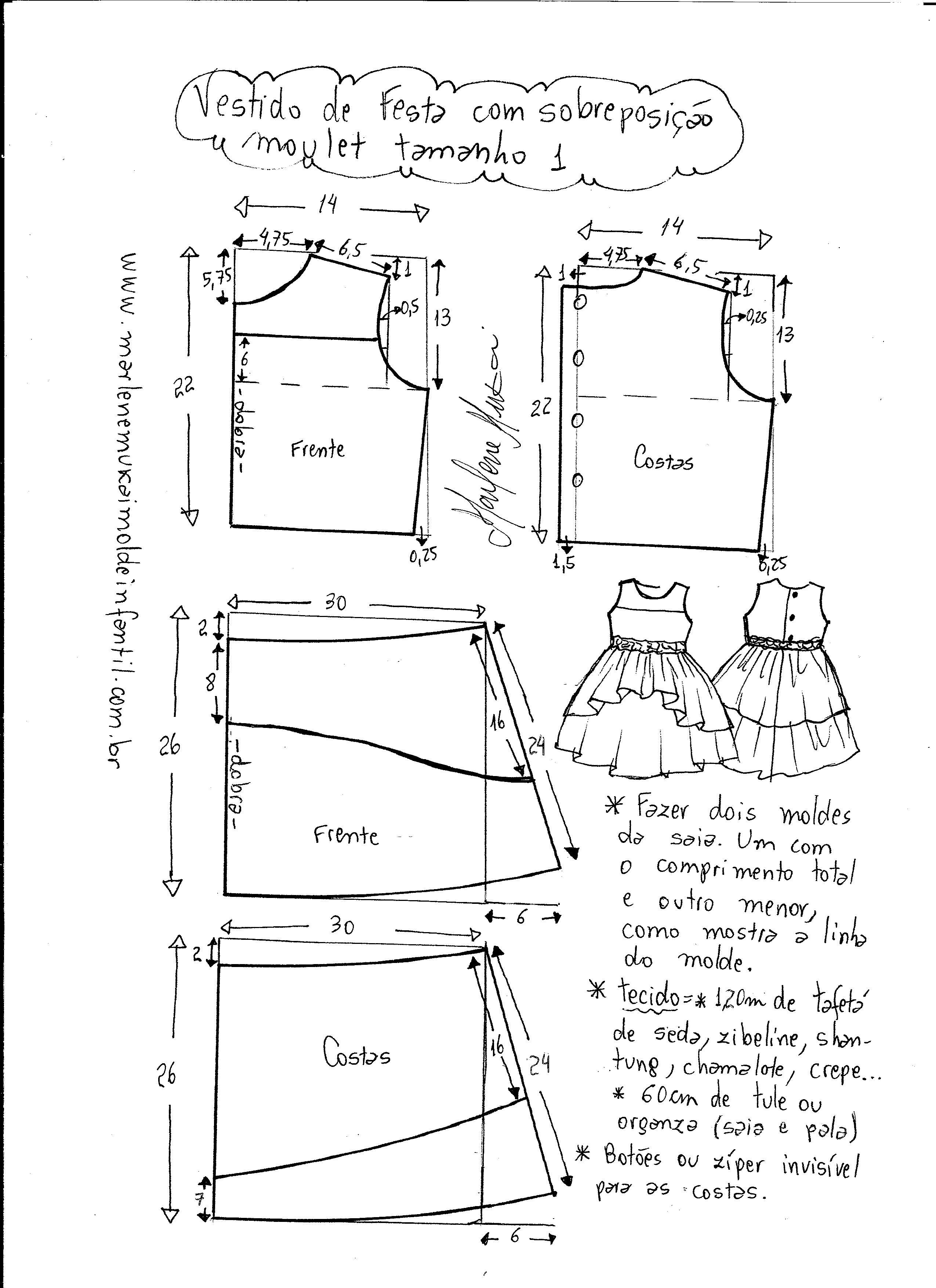 Como hacer un vestido de fiesta nina