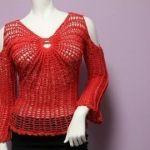DIY Blusa Mariposa sin Hombros a Crochet