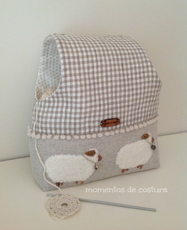 Bolsa para guardar las labores de crochet - Patrones gratis