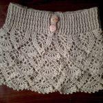 DIY Falda de volantes tejida a crochet