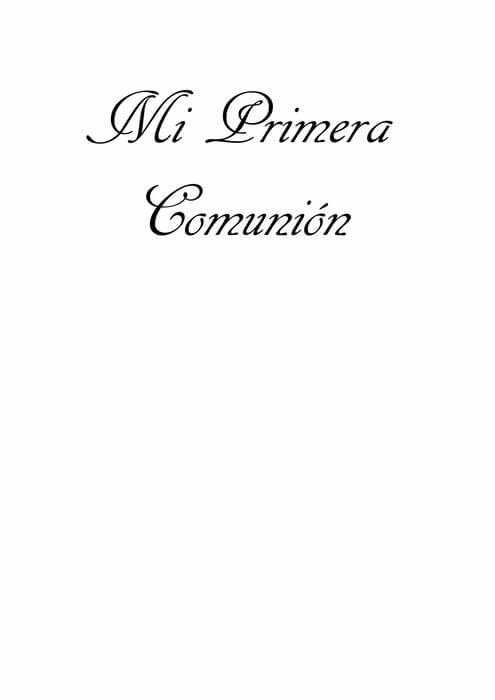 Letra Decode Mi Primera Comunion - Patrones gratis