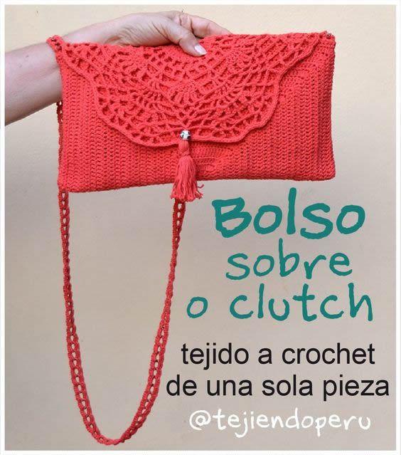 bolso sobre a crochet - Patrones gratis