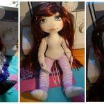 DIY como hacer una muñeca articulada de tela