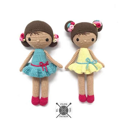 DIY muñeca Chole a ganchillo - Patrones gratis