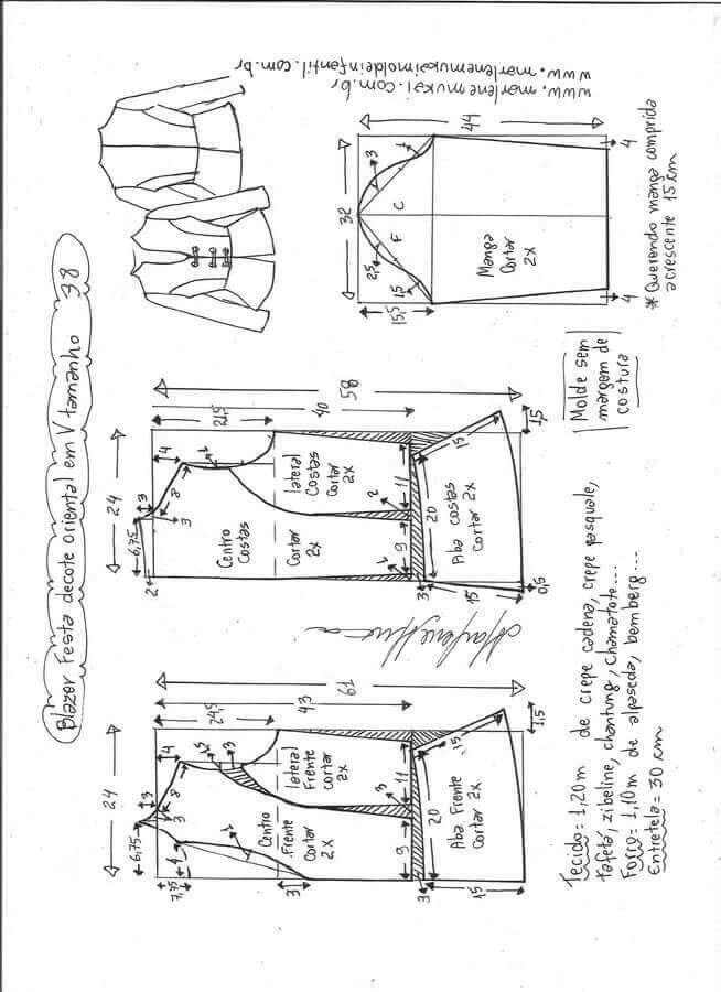 Resultado de imagen para patrones de blazer femenino