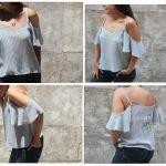 DIY Como hacer una blusa de verano sin hombros