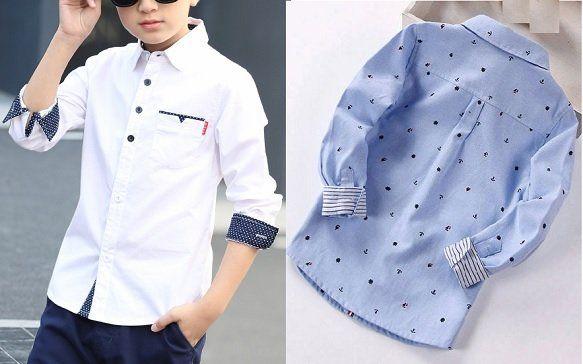 0a4fa6890 Patrón camisa infantil para niño - Patrones gratis