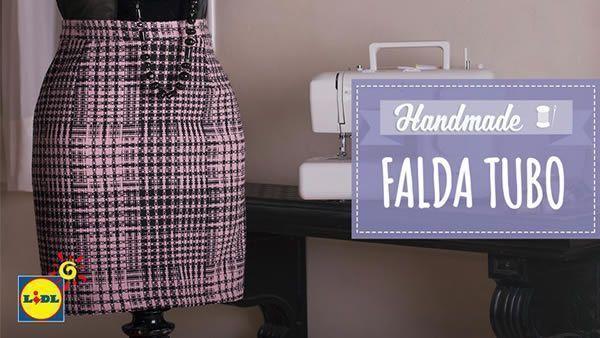 8da37b7cf DIY Falda tubo con patrón - Patrones gratis