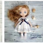 DIY y patrón de vestido marinero para muñecas