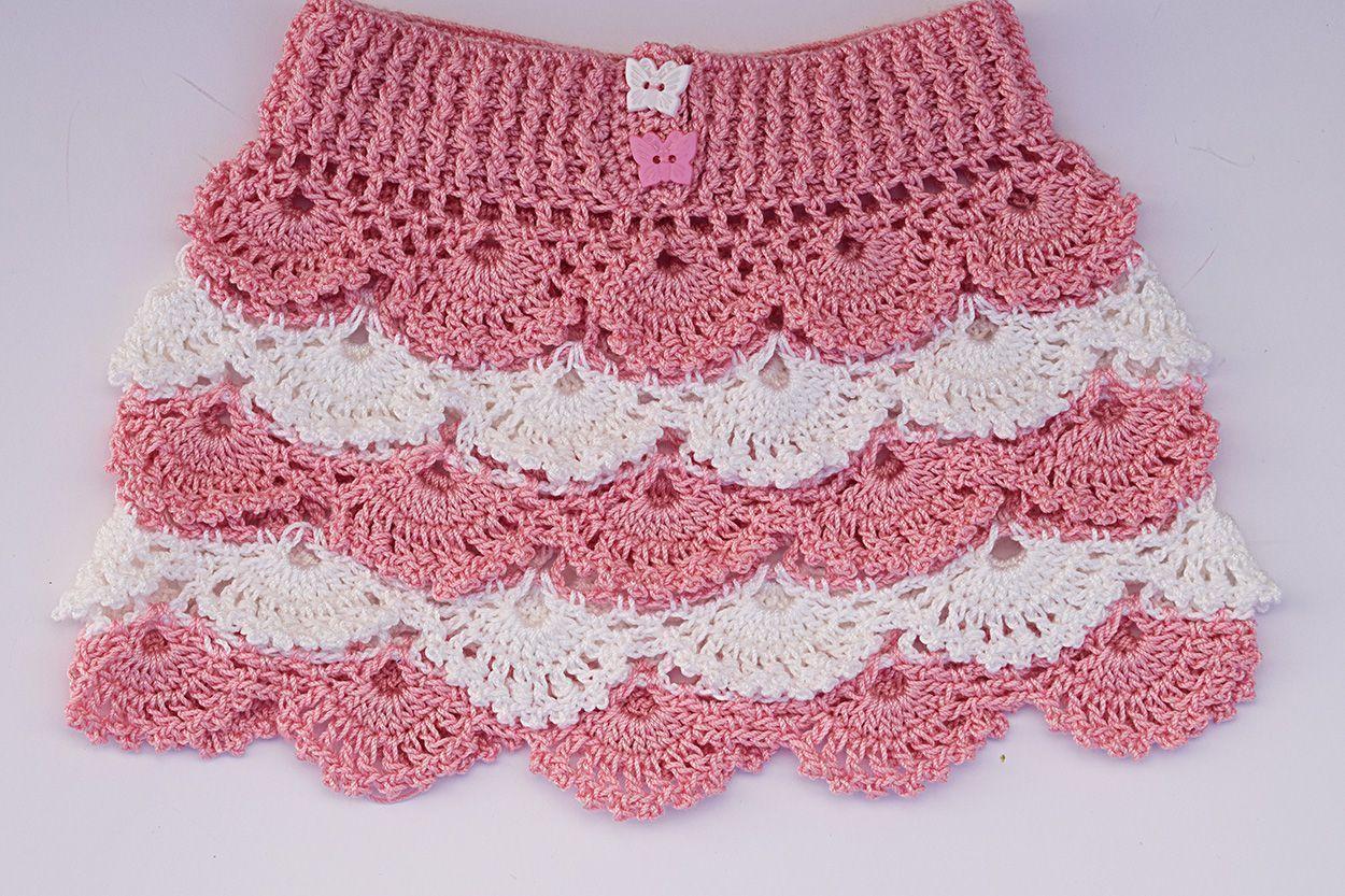 bf2db477bc DIY Falda de niña crochet - Patrones gratis