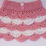DIY Falda de niña crochet