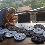 Alfombra en círculos con trapillo DIY