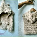 Cardigan o chaleco con capucha infantil a crochet DIY