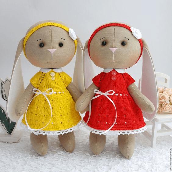 muñeca conejita de tela