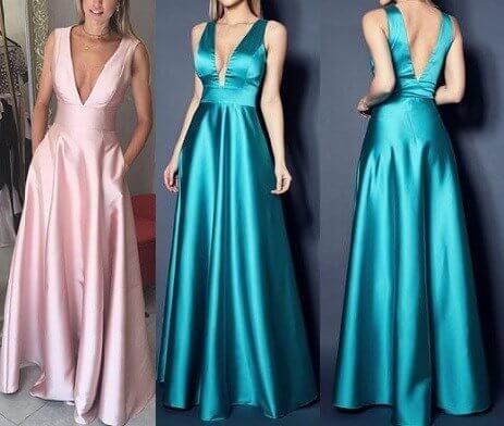 Moldes de vestidos de fiesta largos