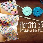 Como hacer una Flor 3D a crochet