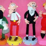 Personajes de Mortadelo y Filemón en amigurumi