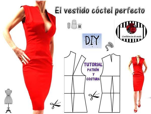 Diy Cómo Hacer Un Vestido De Cóctel Perfecto Patrones Gratis