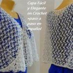Capa elegante y fácil en crochet paso a paso