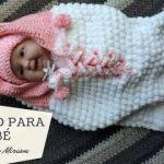 Saco de crochet  para Bebé piel de Oveja