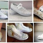 Como customizar calzado de lona con encaje