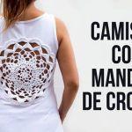 Camiseta con mándala tejido a crochet paso a paso