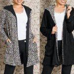 Patrón de abrigo reversible para mujer