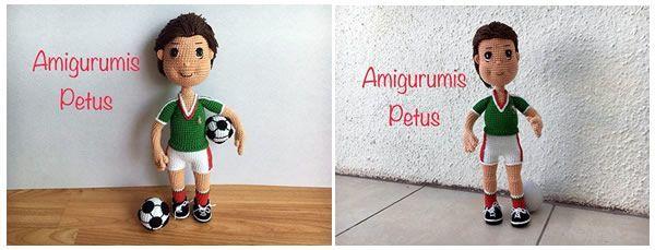 Tutorial patrón muñeco futbolista amigurumi