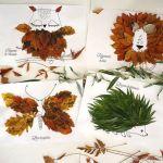 Manualidades para hacer con niños – Artesanía dibujos con hojas